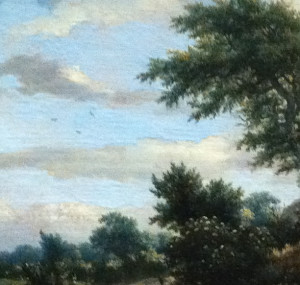 Sandy track in the dunes (detail) - Ruisdael c.1650-55